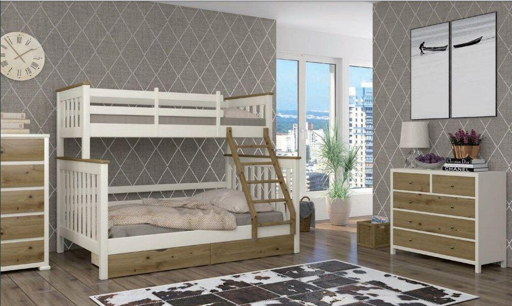 Двухъярусная кровать Скандинавия MebiGrand 120х80х190 см